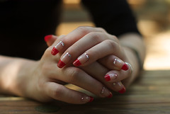 nail_7 (gnsk) Tags: art girl beautiful beauty fashion japan french asian japanese 50mm hands dof hand pentax bokeh finger nail nails osanpo nailart  k10d masterhand