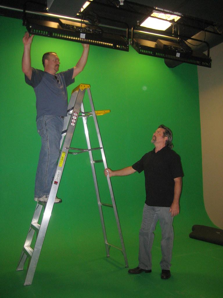 Matt Long and Tony Vicich in studio preparing for upcoming MyStudio TV show