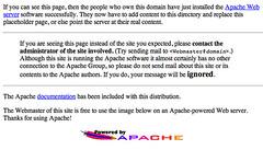 Default Apache Page & SEO