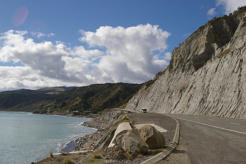 Palliser Bay coastal road