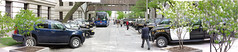 Simcoe St. - police lineup (georges t) Tags: panorama toronto riot demonstration swat tactical simcoest ontarioprovincialpolice commandcentre tamilprotest