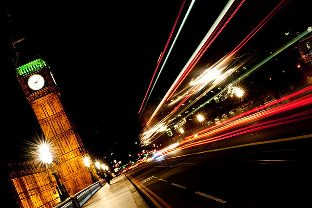 Speeding on Westminster - London, UK