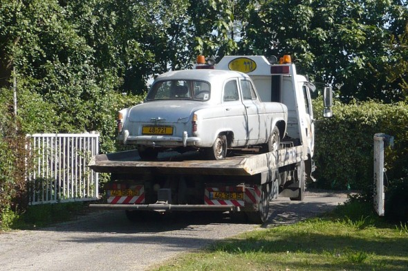 Departing 1960 Ford Prefect