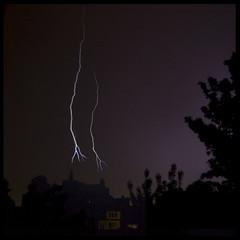 thunder (joeri.cochuyt) Tags: weather tree thunderstorm thunder storm sky night nature lightning light landscape home eos brugge bruges abstract