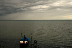 (Blue Spirit - heart took control) Tags: sea clouds seaside barca nuvole mare lignano explored lignanosabbiadoro