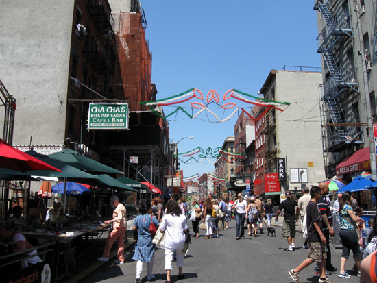 Street in Little Italy (Click to enlarge)