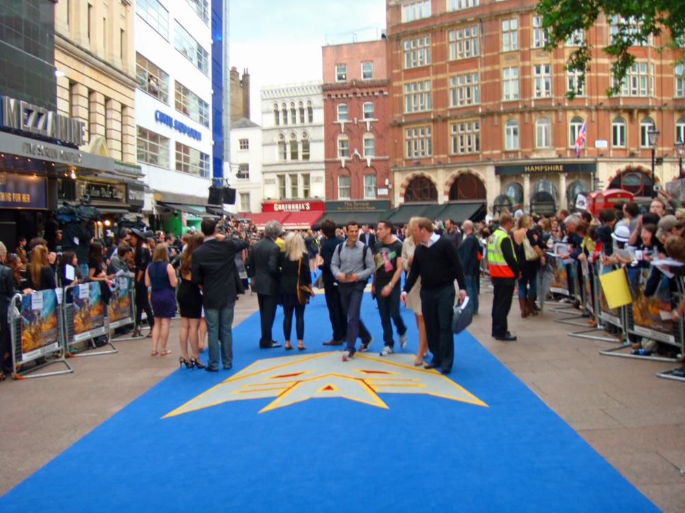 Transformers 2 Londres alfombra azul Decepticons