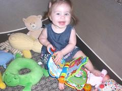 Laila in her playpen