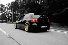my mkv gti (kylenolin) Tags: color vw shot low gti rolling selective slammed mkv wfsu