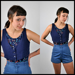 80's Polka Dot Leotard with Attached Vest (Prance & Swagger) Tags: blue girls fashion vintage portland clothing mod 60s dress modeling coat models style polka 80s 70s hippie shorts 50s etsy dots boho swimsuit 30s leotard jumpsuit maidenrapturevintage brittanystrong