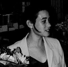 Kim with flowers