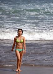 Bali_06 12 09_1135 (kamaruld) Tags: sky bali panorama white sexy beach girl fun sandy horizon bluesky exotic bikini beatiful kuta frolicking