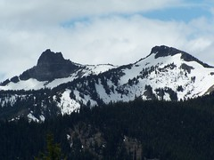 Unnamed peaks to the SW.