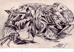 gomer (exchange) (rarebit _) Tags: get men art graffiti sketch character x gr graff outline rare exchange wolverine biro rythm gomer rarebit kingsofgraff