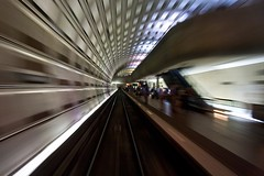 Departing Rosslyn (Samer Farha) Tags: train underground metro tunnel dcist rosslyn caf wmata 5000series 8cartrain construccionesyauxiliardeferrocarriles carnumber5006