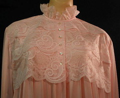 Pink Lace & Nylon Nightgown Bodice Front (mondas66) Tags: ruffles lace boudoir lacy nylon nightgown frilly nightgowns nightdress ruffle nightwear frills frill ruffled nightie lacework frilled nighties nightdresses befrilled frillingfrillings