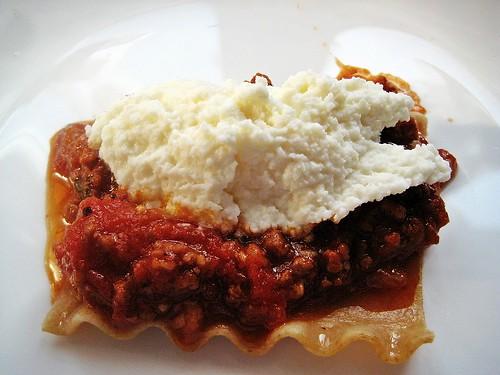 Lasagna Pasta with Sauce & Ricotta
