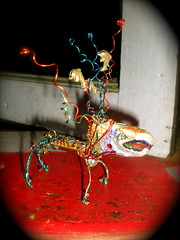 "Richardson Bay Creature~ ""UNO"" (MzDIS) Tags: california sculpture art glitter fun friend folkart outsiderart recycled outsider spirit unique oneofakind painted marin small dream spirits clay handpainted colored creatures sausalito imaginary playful whimsical richardsonbay fourlegged zib smallart zibs sausalitocalifornia zibble zibber ziber one~of~a~kind small3dart zibbled zibbles zibbed zibed zibbing zibing zibest zibbest zibbier zibier zibler zibbler zibbiest"