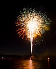 Fireworks 2 @ Kennedy Park, Sayreville, NJ (Danish S) Tags: nightphotography lake reflection newjersey nikon fireworks celebration july4th independenceday sayreville kennedypark nikond80