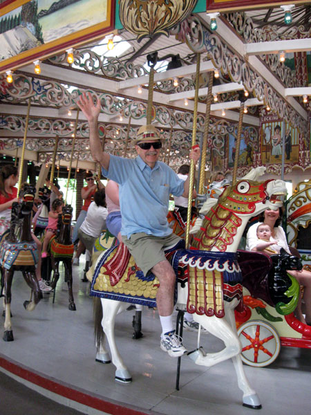Dad on the Grand Carousel (Click to enlarge)