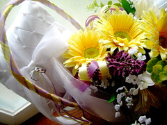 Ring Bearer, Flower Girl Basket and Bouquet