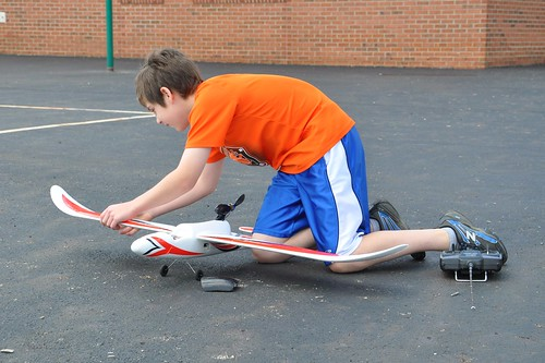 Benton Prepping His RC plane