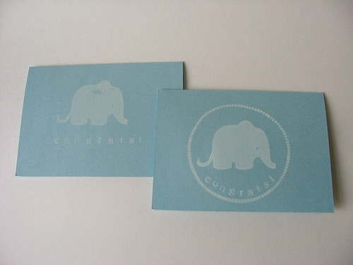 Elephant stamped cards