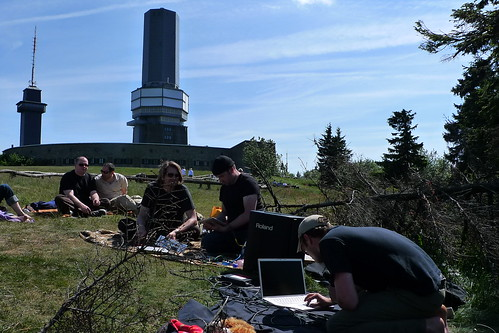 Laptop Konzert auf dem Feldberg. Mai 2011