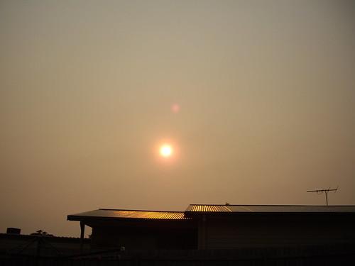 Red smokey sun