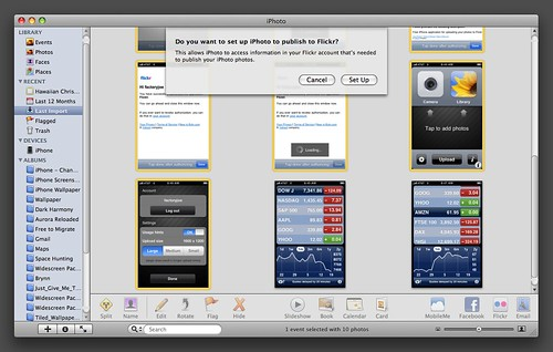 iPhoto - Flickr Setup