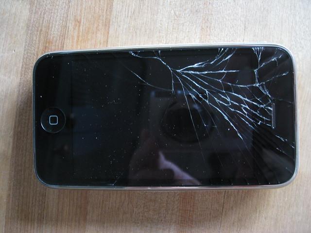 broken cracked iphone