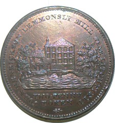 Provincial Token - Twopence - Lemmonsly Mill - by John Henrickson of Lichfield, late 18th - early 19th Century (40mm dia)