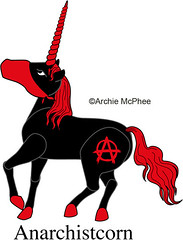 Anarchist Unicorn - Anarchistcorn - Unused Unicorn Design
