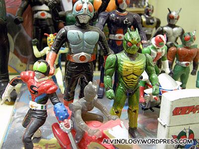 Retro Kamen Rider toys