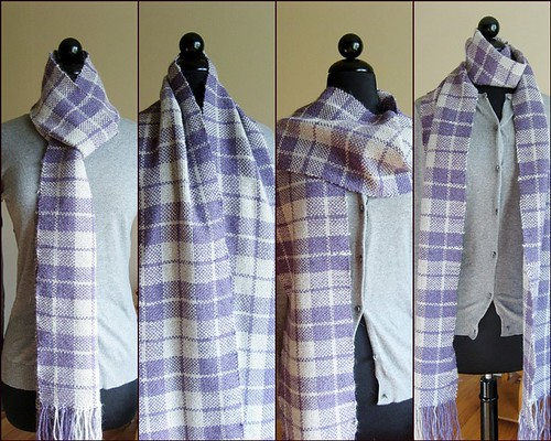 Purple and Gray Plaid Scarf Mosaic