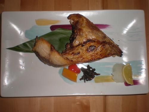 Hamachi kama (yellowtail collar), Hanamaru Restaurant