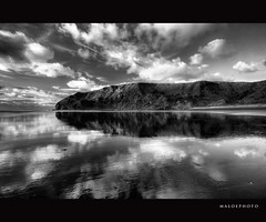 Sky everywhere (Mark Emirali) Tags: ocean sea newzealand sky blackandwhite bw cloud seascape reflection canon landscape mirror auckland nz westcoast 1022mm 30d copyrighted canon30d pleasedonotusewithoutmypermission maloe4 oneilsbeach maloephoto maloephotography markemirali markemiraliphotography