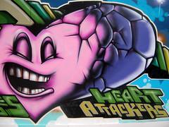 Heart Attackers (Heavy Artillery) Tags: graffiti brighton heavyartillery odisie odisy heartattackers