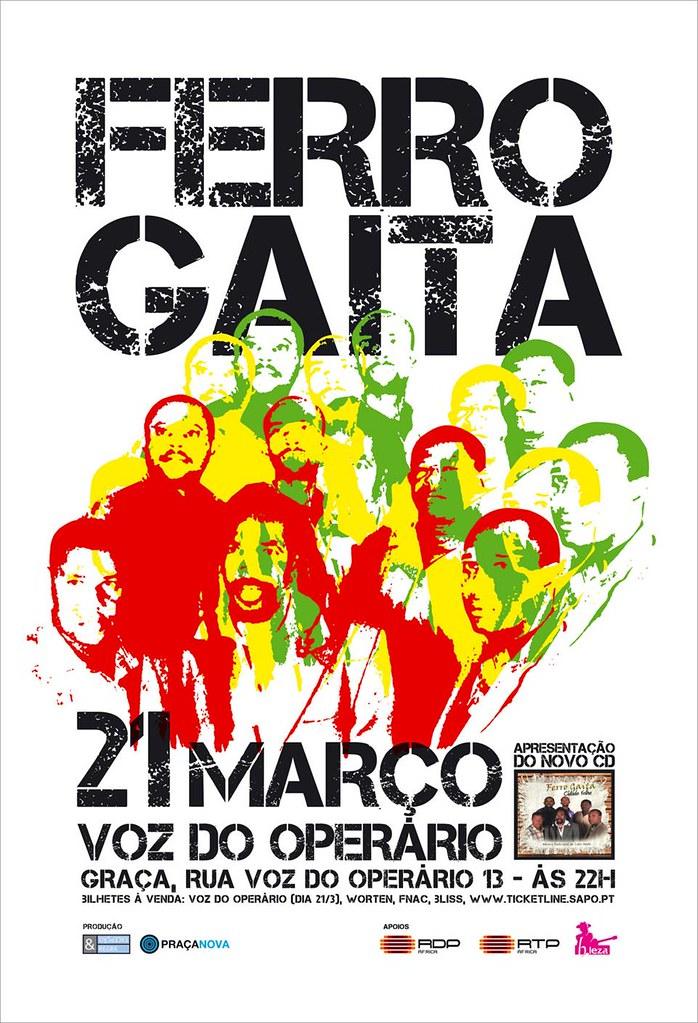 Ferro Gaita apresenta Cidade Velha em Lisboa