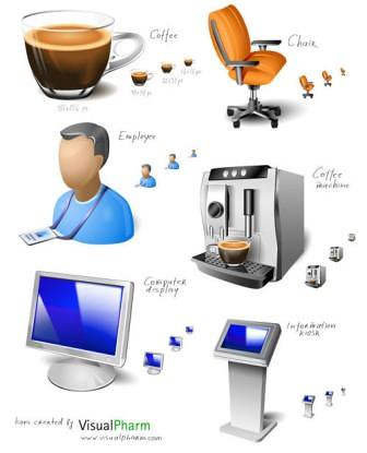 10 professional icons for a desktop and web design