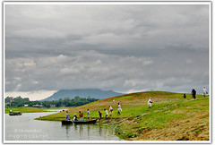 Grass is no more greener on the other side (F.K. Morshed) Tags: people cloud lake water canon boat hill 1001nights bangladesh rangamati g9 kaptai fkmorshed