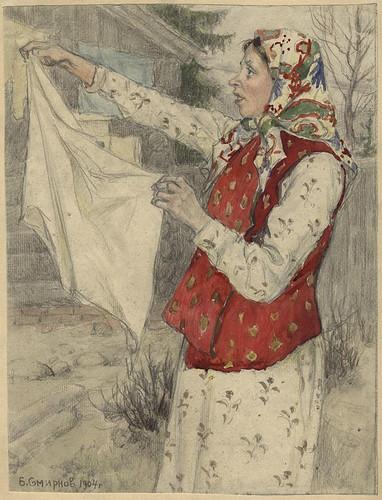 020- Mujeres emigrantes de la provincia de Archangel'sk- Boris Smirnov 1904