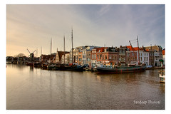 Another view of Leiden (HDR) (sandeep thukral) Tags: canal leiden hdr centraal boads theperfectphotographer