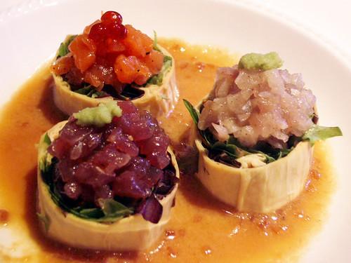 yuba sashimi salad @ megu