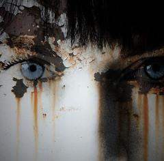 damaged people (-justk-) Tags: copyright eyes rust tears depechemode damaged ignisart eyesarethemirrorofthesoul hourofthesoul thisisfictionimashappyascanbe texturetherevamptrampthanks robertsartgallery allmyimagesarecopyrightedallrightsreserveddonotusecopyandeditmyimageswithoutmypermission truthandillusion