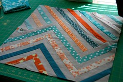 Fin! (kelp!) Tags: sewing sew pillow patchwork pieced soorange iguessireallylikedorangelastyear