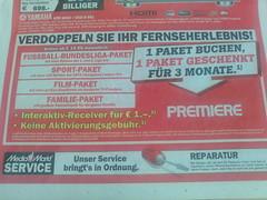 MediaMarkt-Werbung: Premiere-Angebot