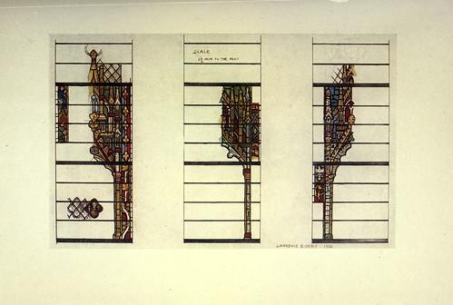 009- Detalles del vitral en el pasillo norte de York Minster siglo XIV