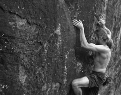 Palm Beach Bouldering Session (hirnschnecke) Tags: beach muscles rock cut sydney australia boulder palm nsw bouldering session palmbeach tarzan v7 oac aplusphoto outdooradventureclub