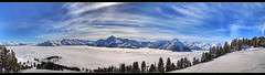 Austrian Alps Panoramic (Ash Lourey) Tags: sky mist snow cold ice fog clouds canon austria spring europe panoramic dri mayrhofen snowbombing 450d